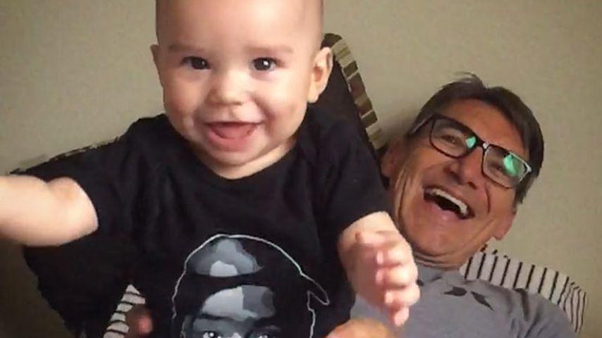 Naya Riveras Vater George (rechts) mit ihrem Sohn Josey