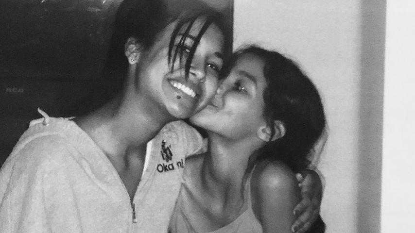 Naya und Nickayla Rivera in jungen Jahren