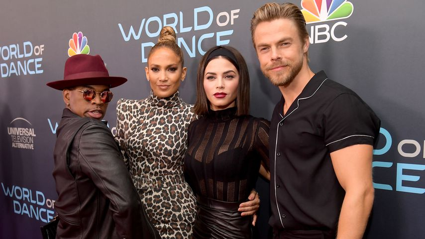 "Ne-Yo, Jenna Dewan, Jennifer Lopez und Derek Hough, ""World of Dance""-Crew"