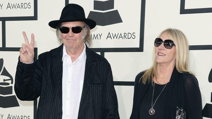Neil und Pegi Young bei den Grammy Awards 2014 in Los Angeles