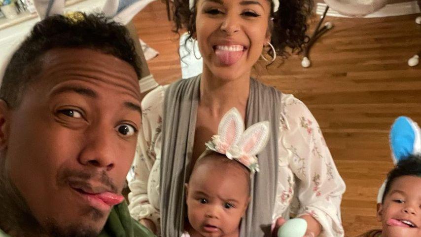 Nick Cannon und Brittany Bell mit ihren gemeinsamen Kindern, Ostern 2021