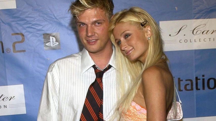Nick Carter und Paris Hilton auf einer Party in New York im Juli 2004