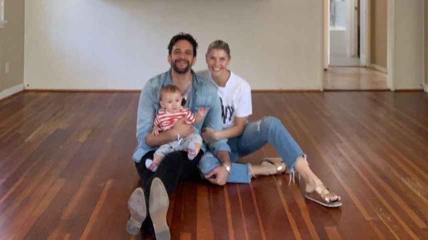 Nick Cordero mit seiner Frau und seinem Baby