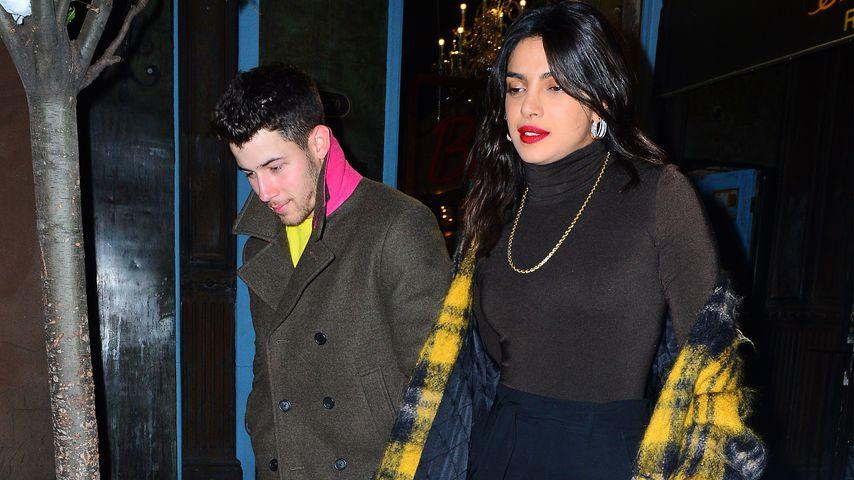 Sänger Nick Jonas und Schauspielerin Priyanka Chopra in New York City
