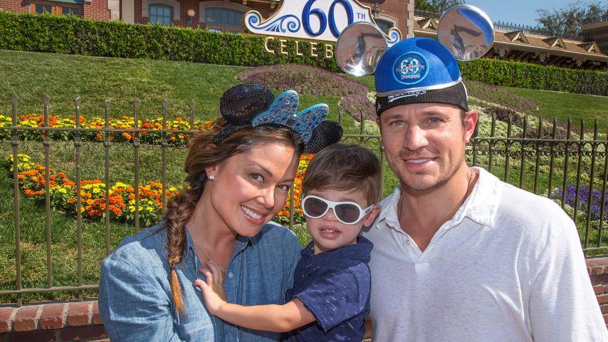 Nick Lachey mit Ehefrau Vanessa und Sohn Camden