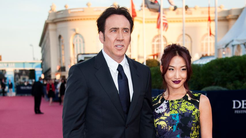 Nicolas Cage und Alice Kim auf dem The 39th Deauville Film Festival