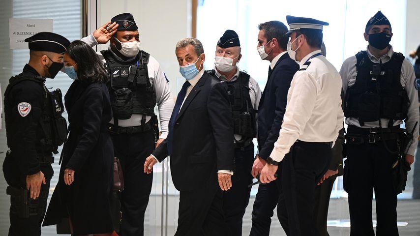 Nicolas Sarkozy vor Gericht in Paris im März 2021