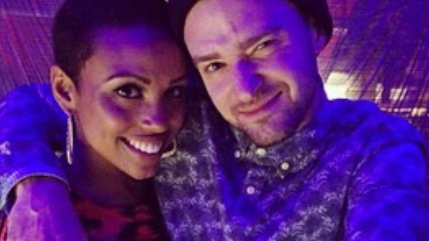 Nicole Hurst und Justin Timberlake