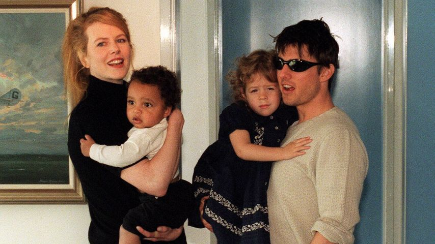 Nicole Kidman, Tom Cruise, Isabella Cruise und Connor Cruise 1996