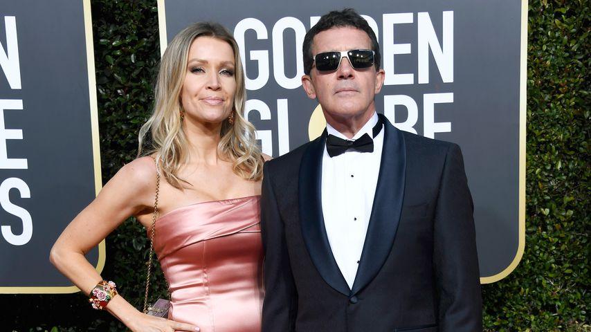 Nicole Kimpel und Antonio Banderas bei den Golden Globe Awards im Jahr 2019