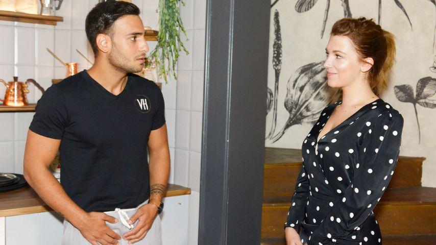 Nihat (Timur Ülker) und Lilly (Iris Mareike Steen) in einer GZSZ-Szene