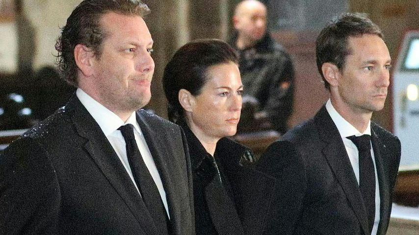 Niki Laudas Witwe Brigit Lauda und die Söhne Lukas und Mathias Lauda