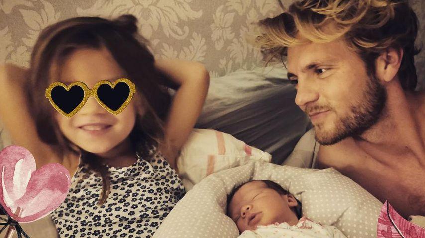 Niklas Osterloh mit seinen Töchtern