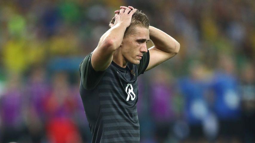 Nils Petersen nach seinem verschossenen Elfmeter im Olympia-Finale 2016 gegen Brasilien