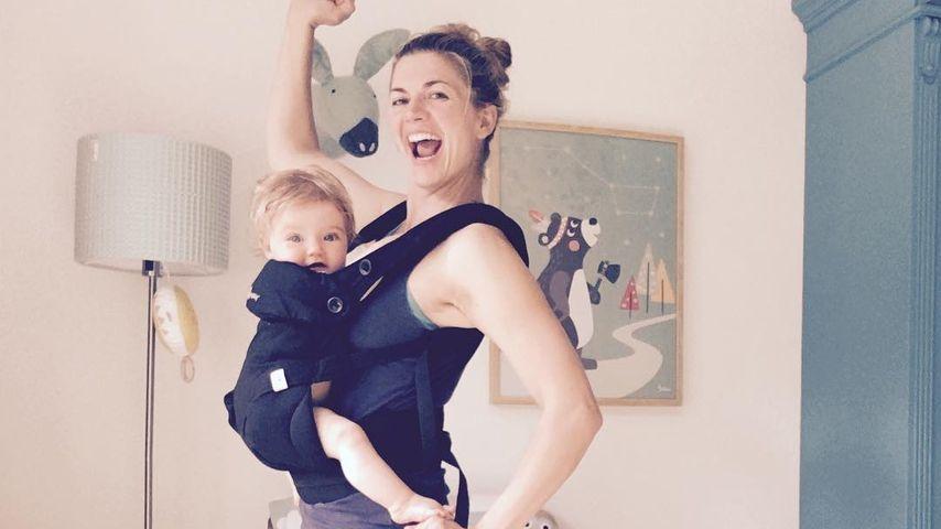 Süßes Mama-Tochter-Duo! Nina Bott sportelt zusammen mit Luna