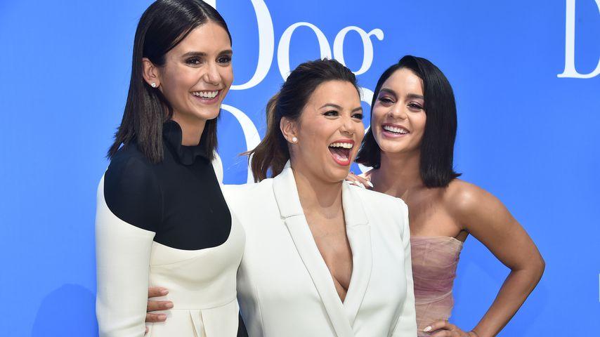 Nina Dobrev, Eva Longoria und Vanessa Hudgens auf einer Premiere