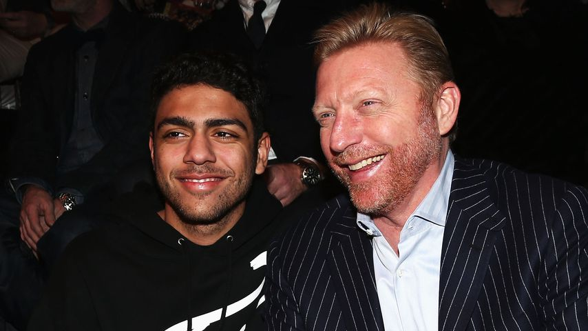 Noah und Boris Becker bei der Mercedes-Benz Fashion Week in Berlin