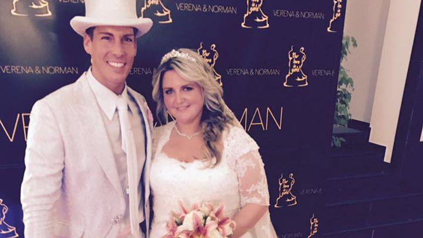 Norman Langen und seine Braut Verena am Tag ihrer kirchlichen Hochzeit