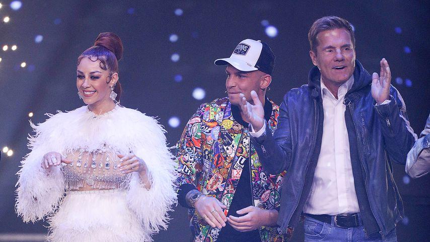 Oana Nechiti, Pietro Lombardi und Dieter Bohlen in der 1. DSDS-Mottoshow 2019
