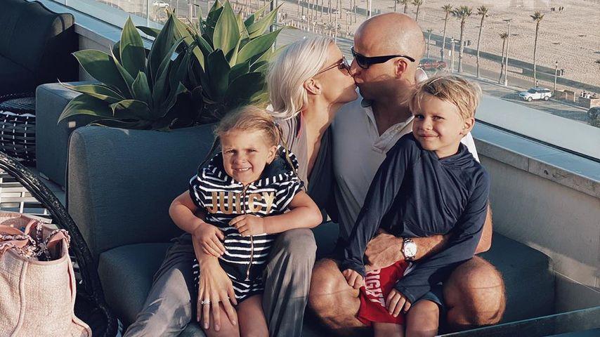 Oksana Kolenitchenko, ihr Mann Daniel und ihre beiden Kinder in Kalifornien im Mai 2020