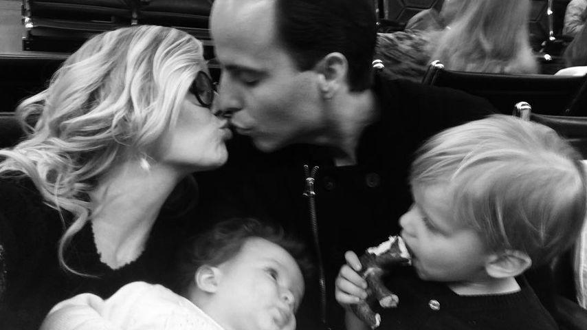 Oksana Kolenitchenko mit Ehemann Daniel, Sohn Milan und Tochter Arielle
