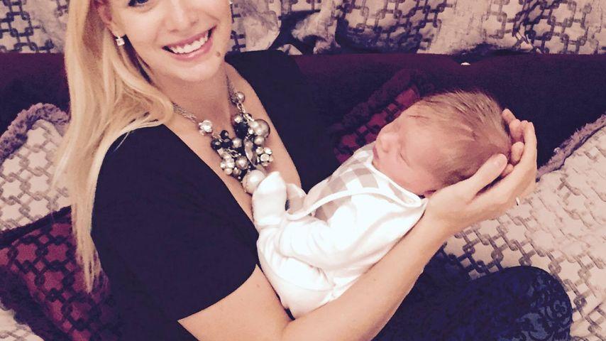 Oksana Kolenitchenko mit Baby Milan einen Monat nach der Geburt