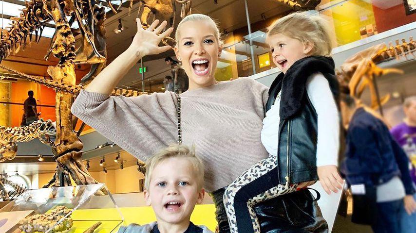 Oksana Kolenitchenko mit ihren Kindern, Februar 2020