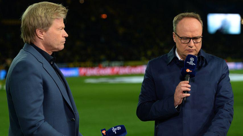 Oliver Kahn und Oliver Welke als Moderatoren beim Champions League Finale 2014