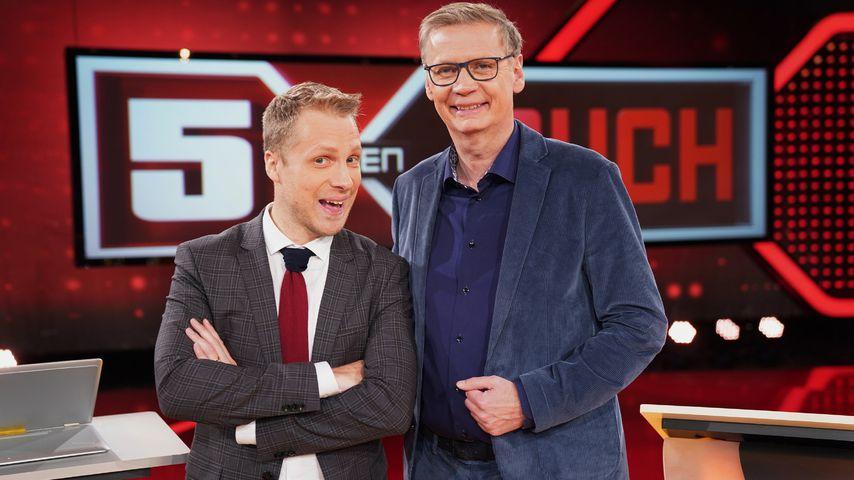 """Oliver Pocher und Günther Jauch bei """"5 gegen Jauch"""""""