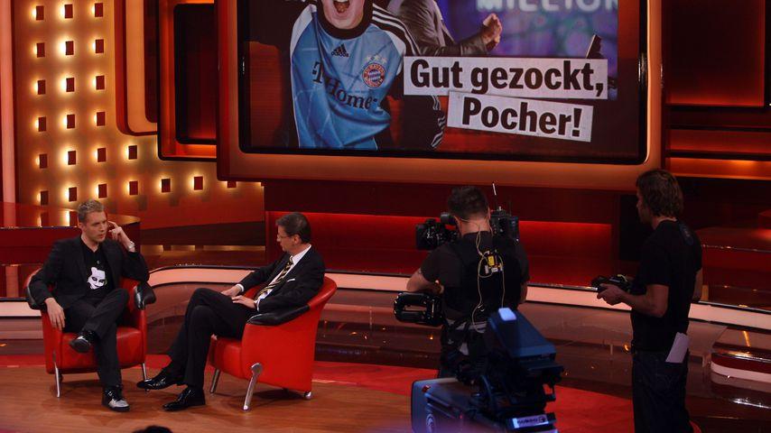 Oliver Pocher und Günther Jauch beim RTL Jahresrückblick 2008