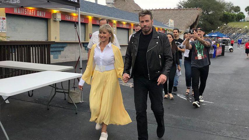 Olivia Newton-John und John Travolta im Dezember 2019