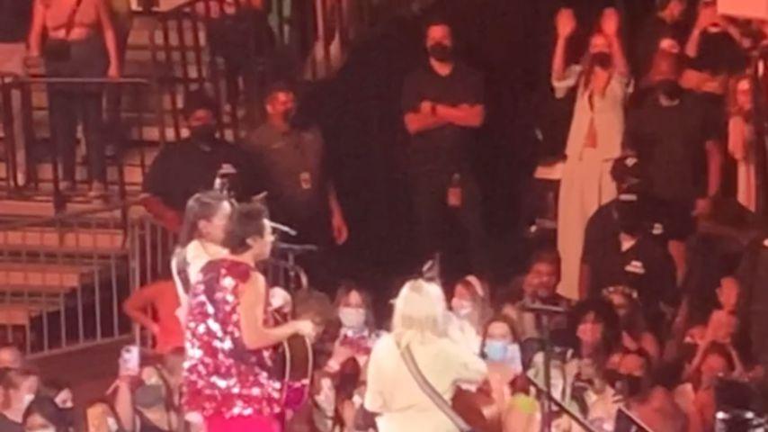 Olivia Wilde (oben rechts im Bild) auf einem Konzert von Harry Styles