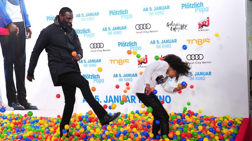 """Omar Sy und Gloria Colston auf der Premiere von """"Plötzlich Papa"""" in Berlin"""