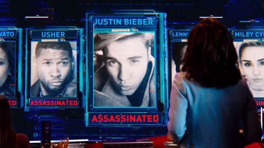 Justin Bieber, Miley Cyrus, Demi Lovato, Usher und Lenny Kravitz