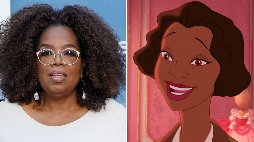 """Collage: Oprah Winfrey, Eudora aus """"Küss den Frosch"""""""