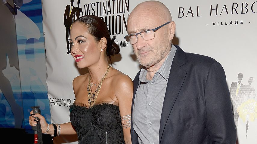 Orianne Cevey und Phil Collins im März 2016
