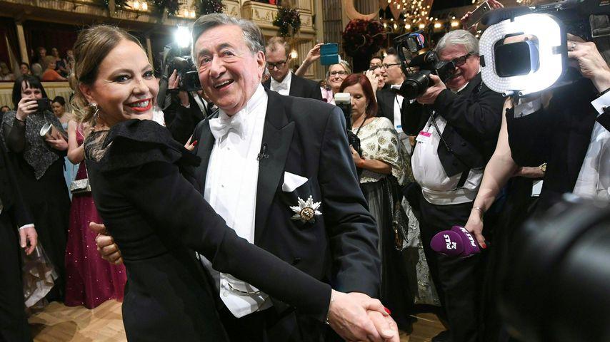 Ornella Muti und Richard Lugner auf dem Wiener Opernball, 2020