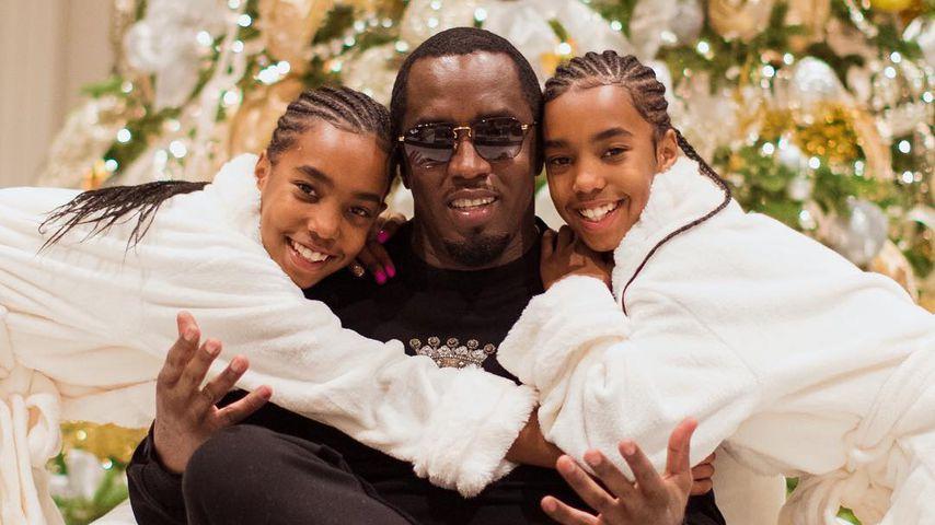 Nach Kim Porters Tod: P. Diddy kuschelt an Xmas seine Twins