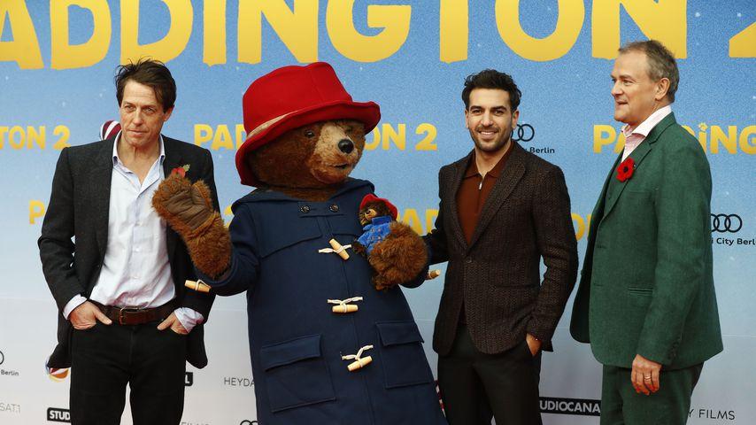 """Hugh Grant, Eylas M'Barek und Hugh Bonneville bei der """"Paddington 2""""-Premiere in Berlin"""
