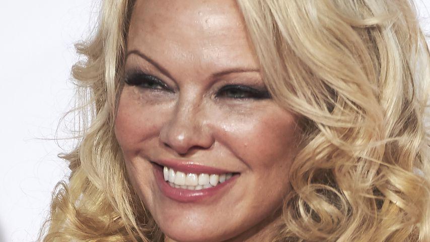 Pamela Anderson im März 2018 in Madrid