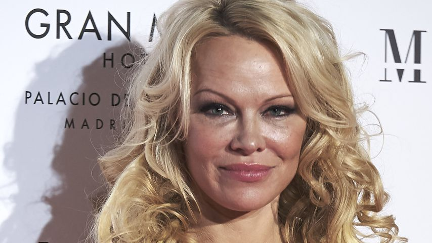 Pamela Anderson in Madrid