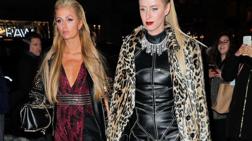 Paris und Nicky Hilton 2017 vor der Philipp Plein Fashion Show auf der New York Fashion Week