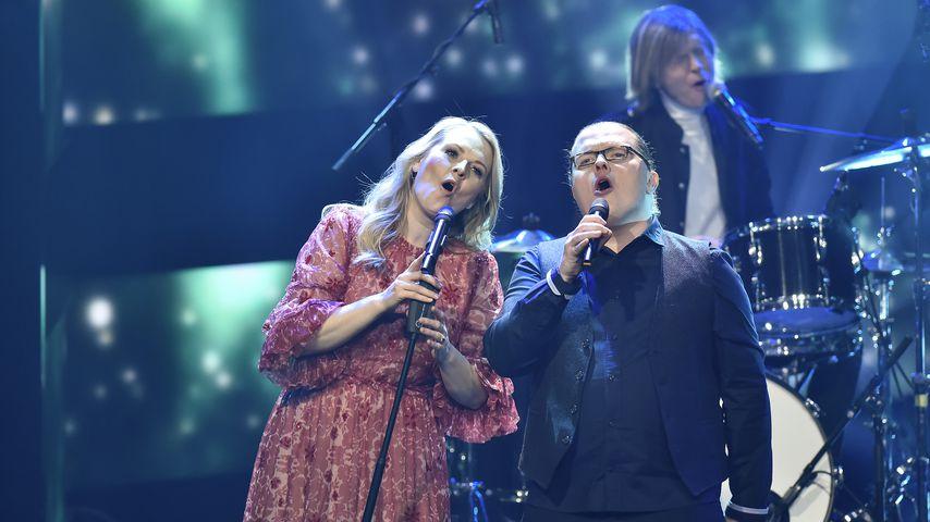 Patricia, Angelo und John Kelly im Dezember 2019