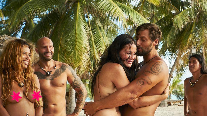 "Patricia Blanco, Todor, Djamila Rowe, Christian und Leo Rojas, Teilnehmer von ""Adam sucht Eva"""