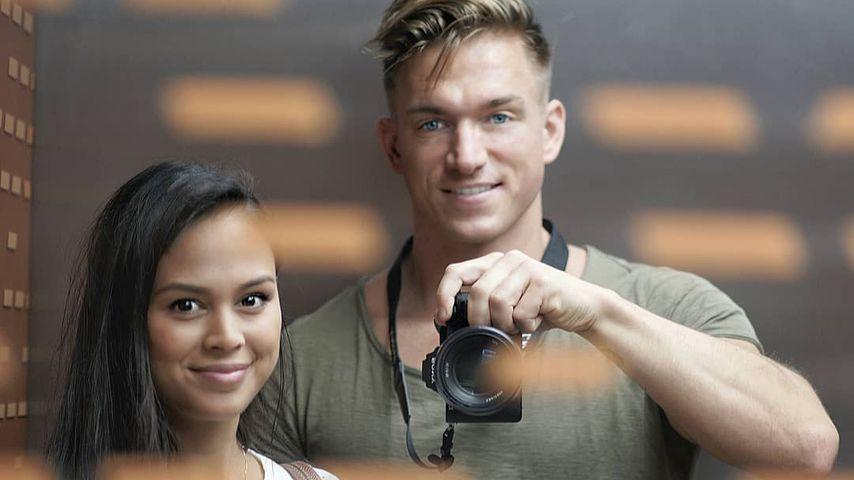 Patrick Fabian und seine Freundin Lea im Oktober 2019