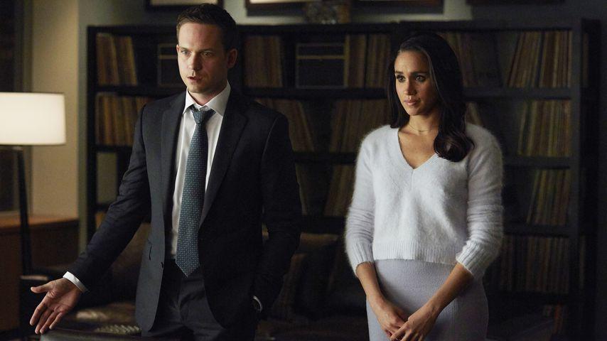 """Patrick J. Adams und Meghan Markle in der Serie """"Suits"""""""