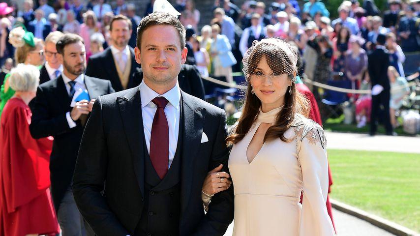 Patrick J. Adams und Troian Bellisario bei der Royal-Hochzeit in Windsor