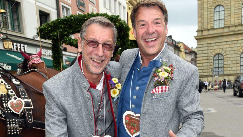 Patrick Lindner und Peter Schäfer beim Oktoberfest