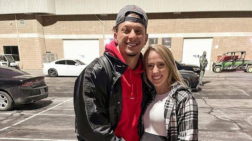 Patrick Mahomes und seine Verlobte Brittany Matthews