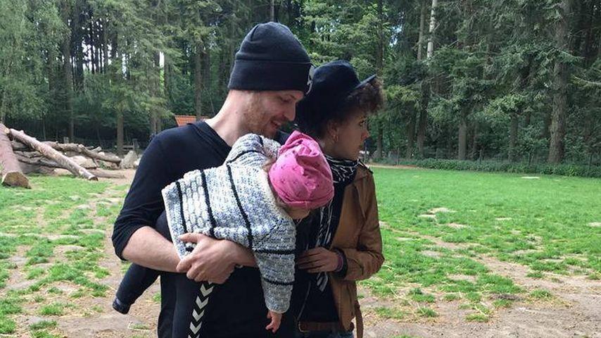 Patrick Müller, Joy Abiola-Müller und ihre Tochter